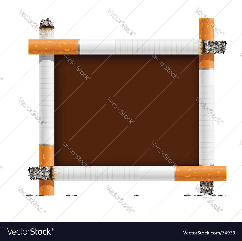 Blank sign made of cigarettes vector | Price: 1 Credit (USD $1)