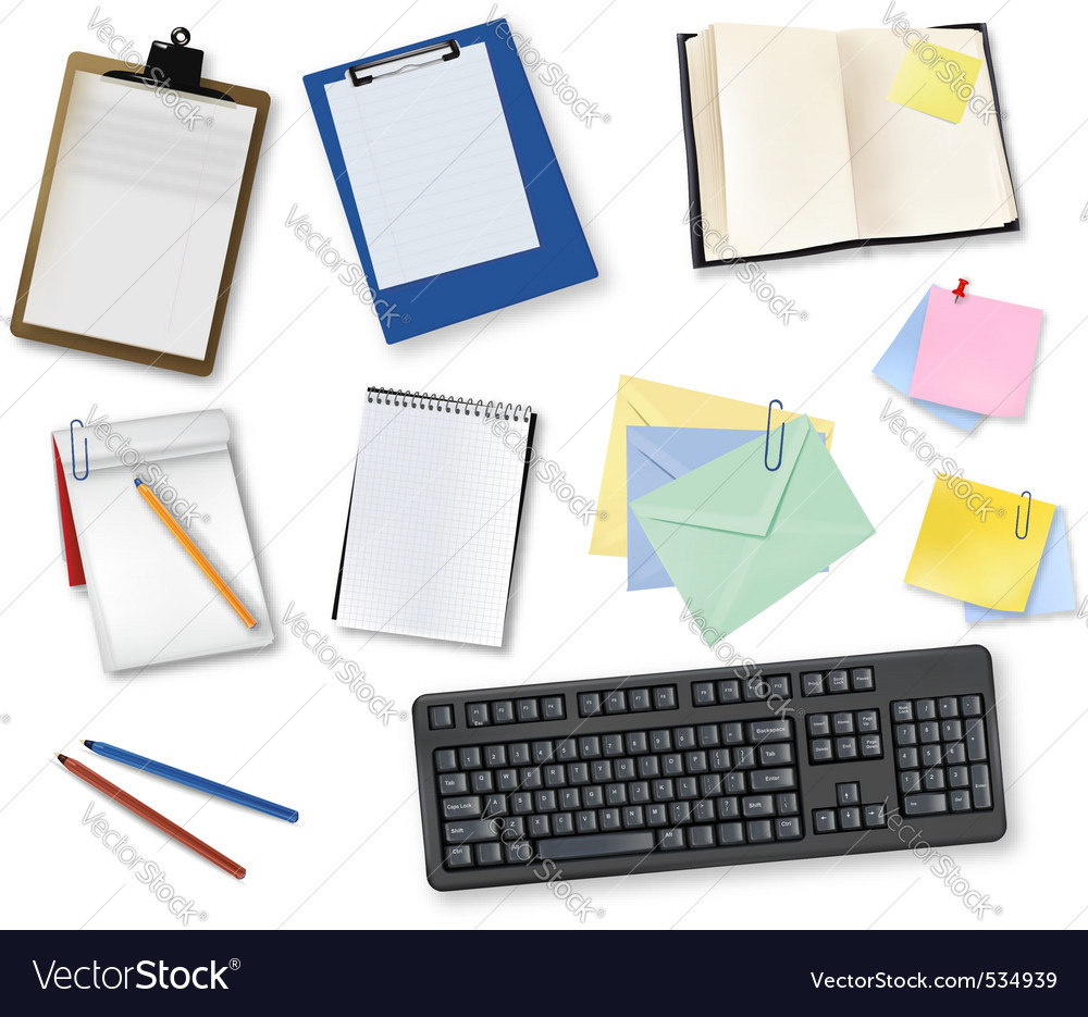 Book and office supplies vector | Price: 3 Credit (USD $3)