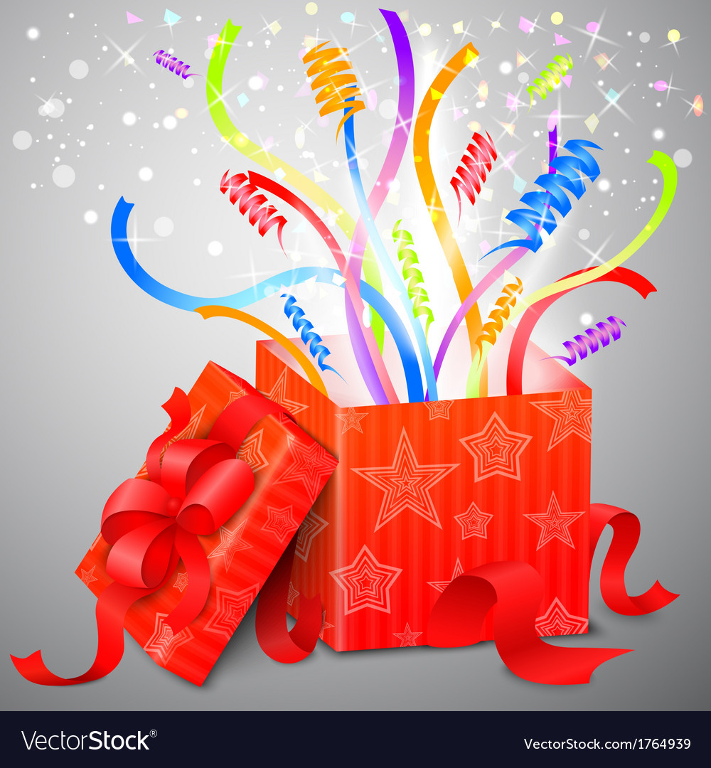 Magic surprise box vector | Price: 1 Credit (USD $1)