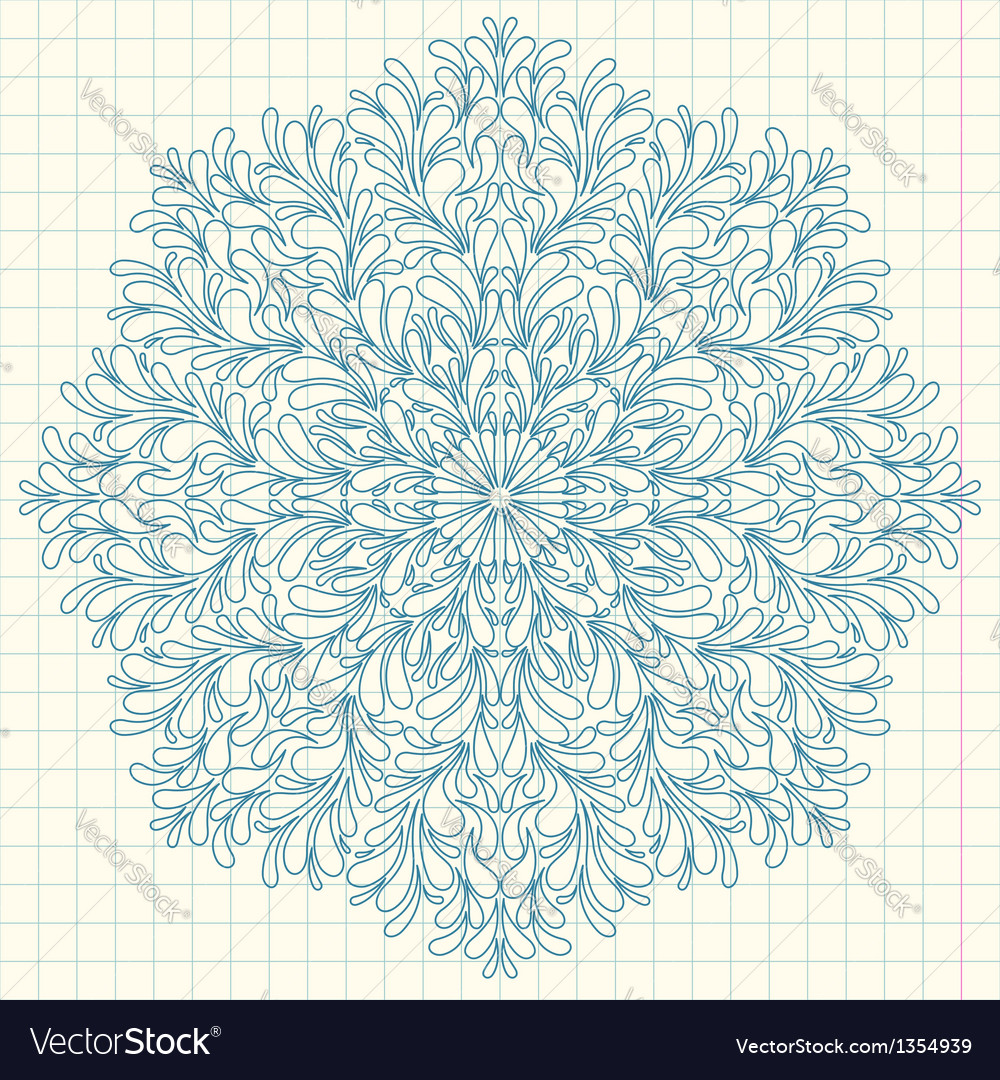 Ornamental round lace with drops vector | Price: 1 Credit (USD $1)