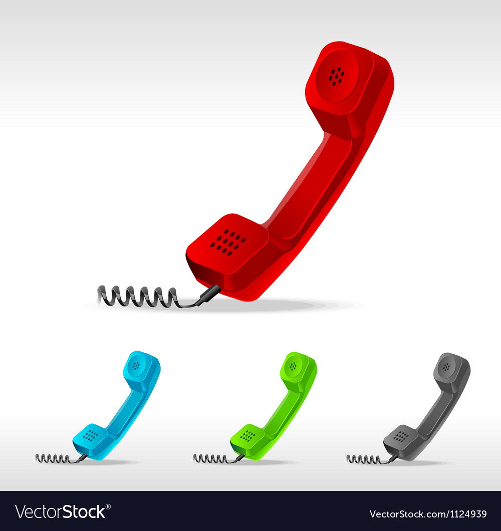 Phone receiver vector | Price: 1 Credit (USD $1)
