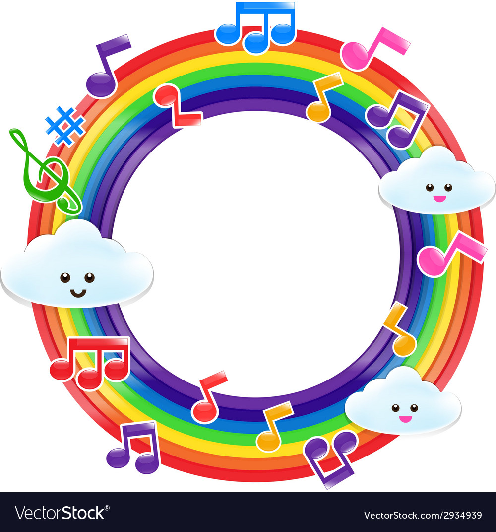 Rainbow music 002 vector | Price: 1 Credit (USD $1)