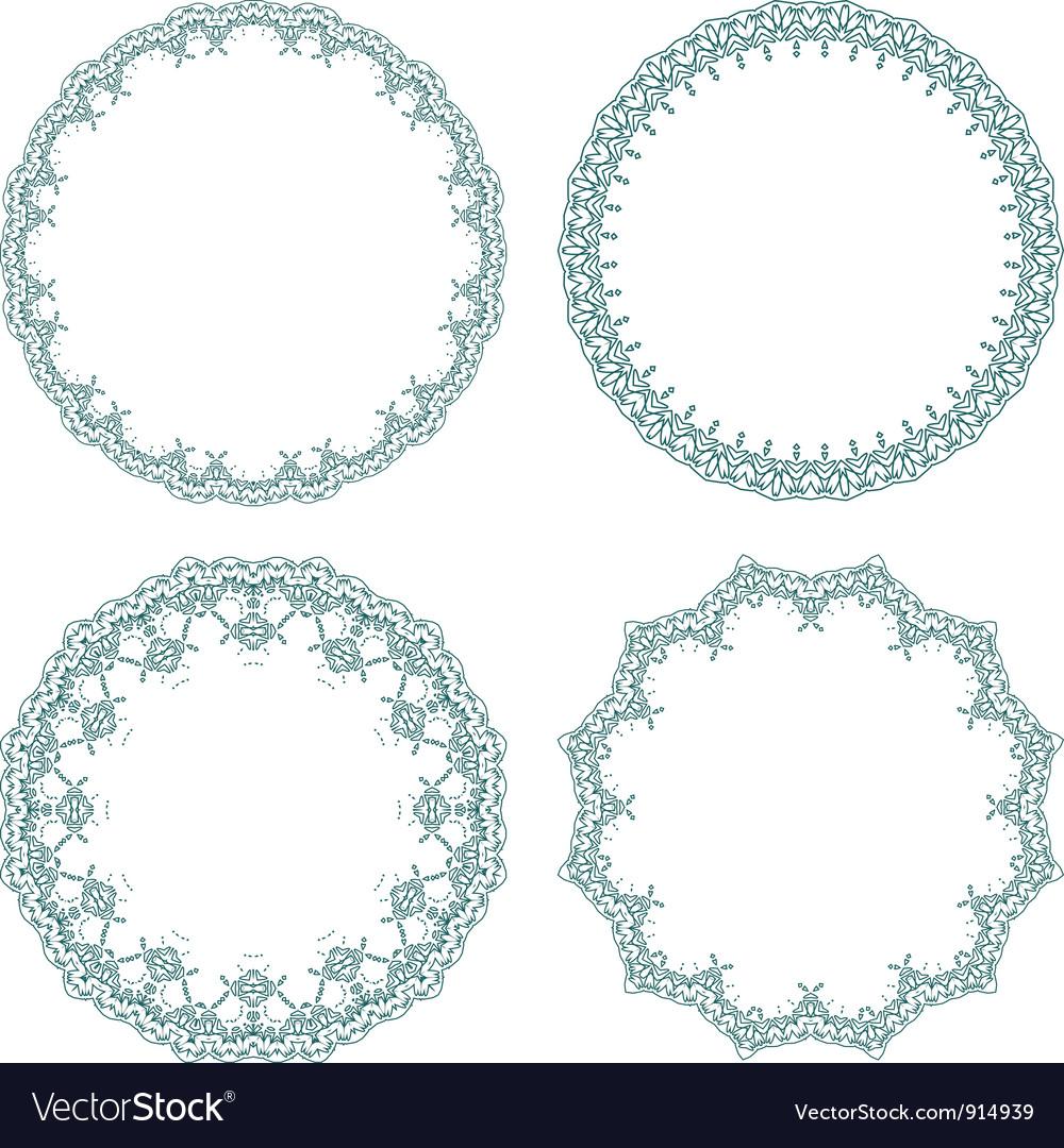 Round decorative frames vector