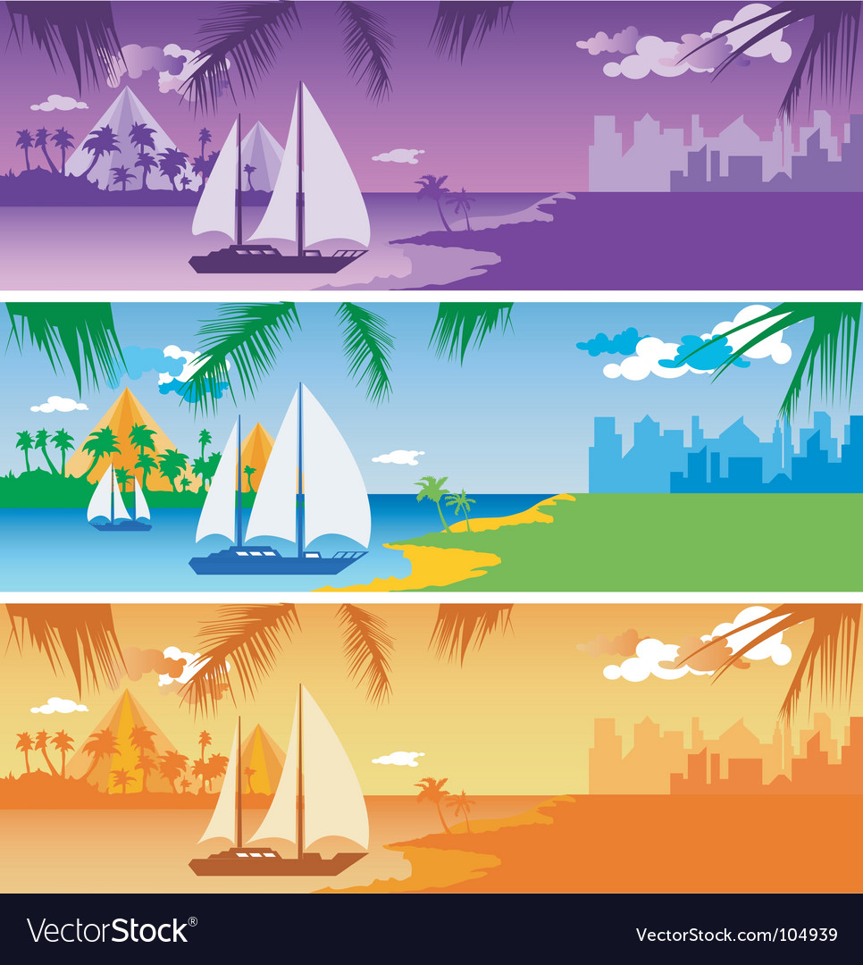 Sailing in harbor vector | Price: 1 Credit (USD $1)
