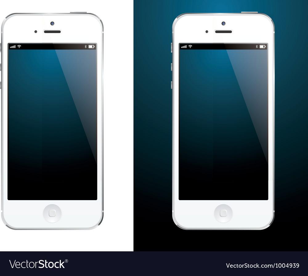 Smartphone white vector | Price: 1 Credit (USD $1)