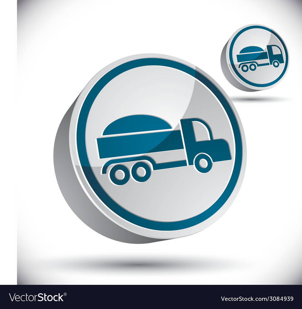 Truck 3d icon vector | Price: 1 Credit (USD $1)