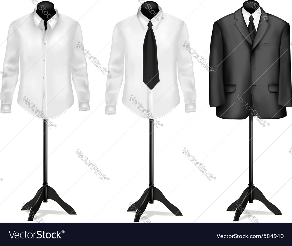 Black suit vector | Price: 3 Credit (USD $3)
