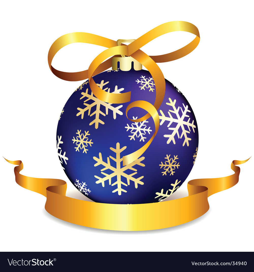 Blue christmas ball on white vector | Price: 1 Credit (USD $1)