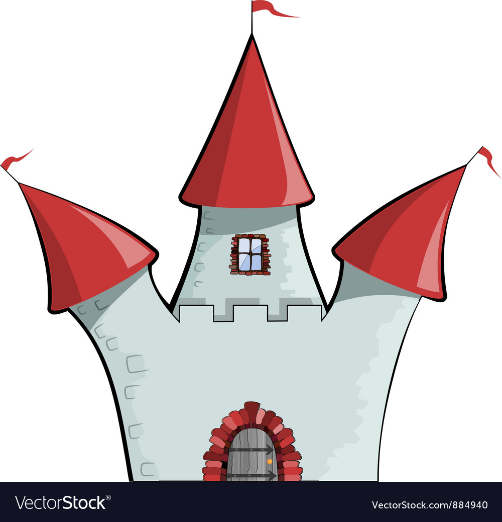 Dcartoon castle eps10 vector | Price: 1 Credit (USD $1)