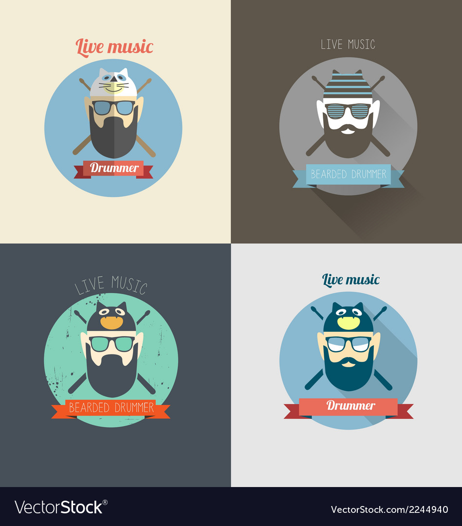 Drummer vector | Price: 1 Credit (USD $1)