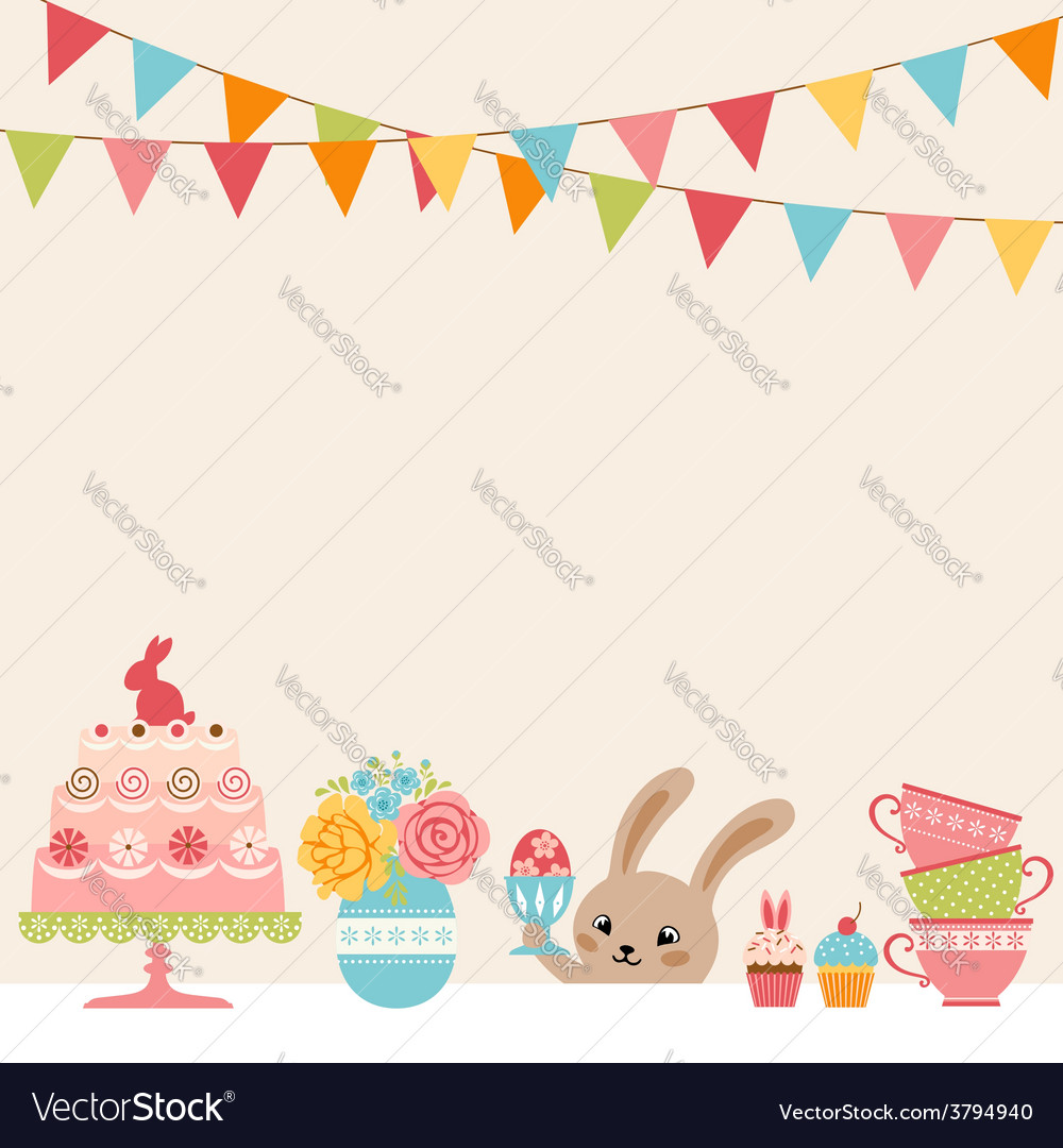Easter party vector | Price: 1 Credit (USD $1)
