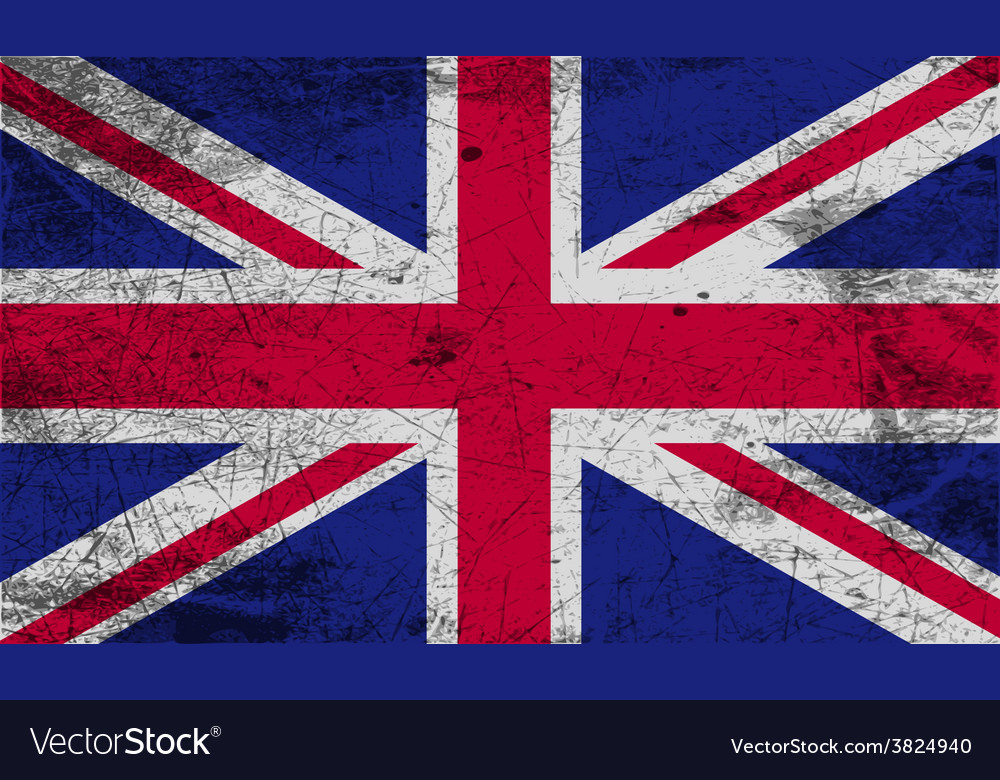 Flag of united kingdom with old texture vector
