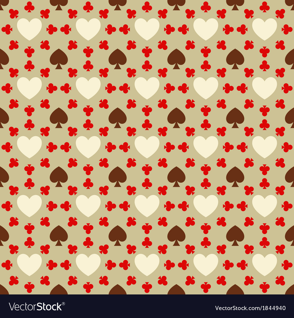 Seamless pattern with card suits vector | Price: 1 Credit (USD $1)