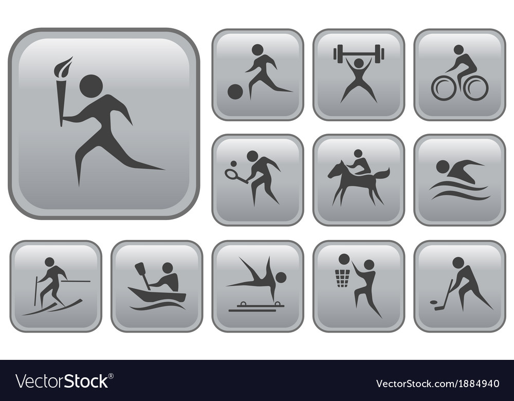 Sport buttons vector   Price: 1 Credit (USD $1)