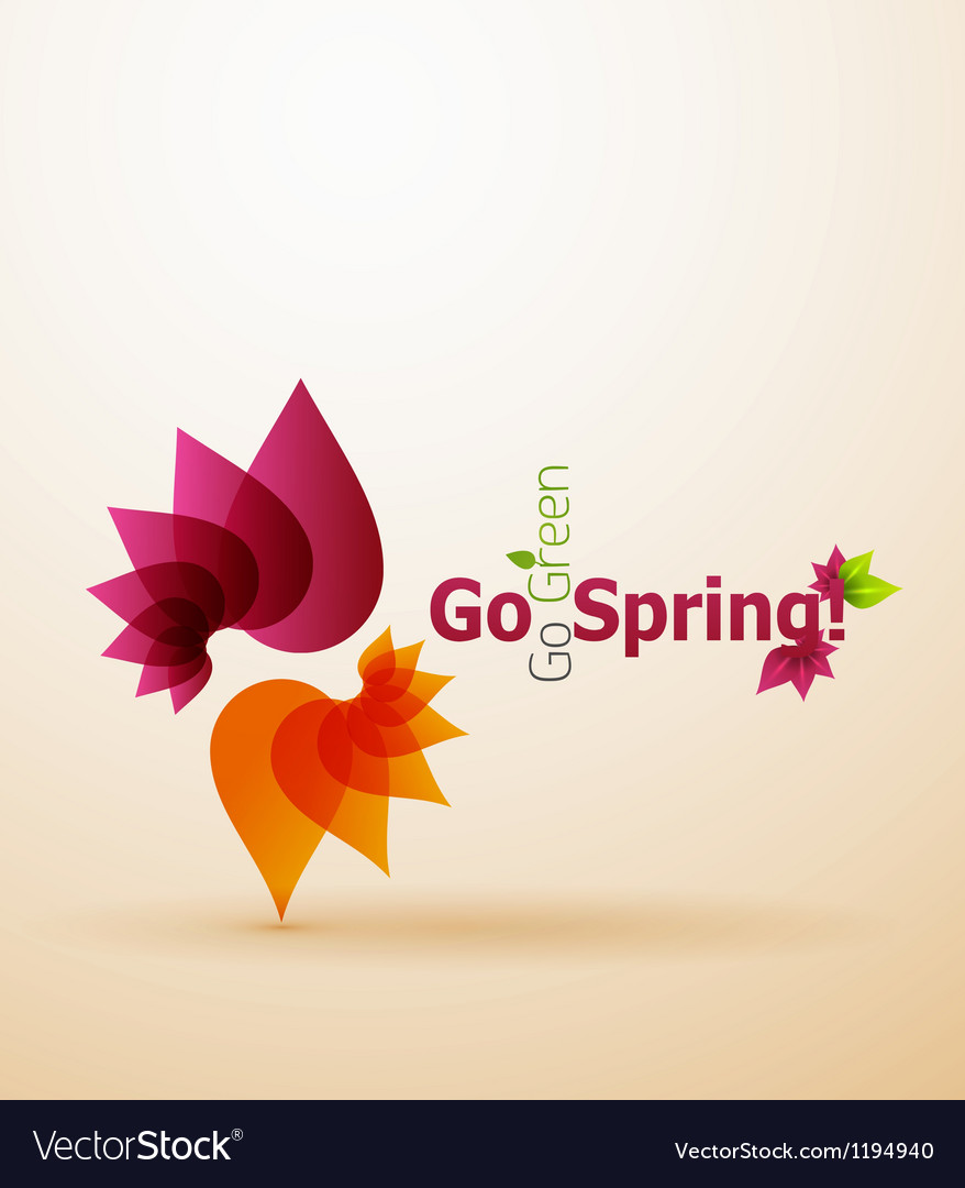 Spring flower abstract background vector   Price: 1 Credit (USD $1)