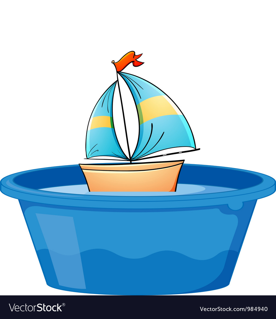 Toy sail boat vector | Price: 1 Credit (USD $1)