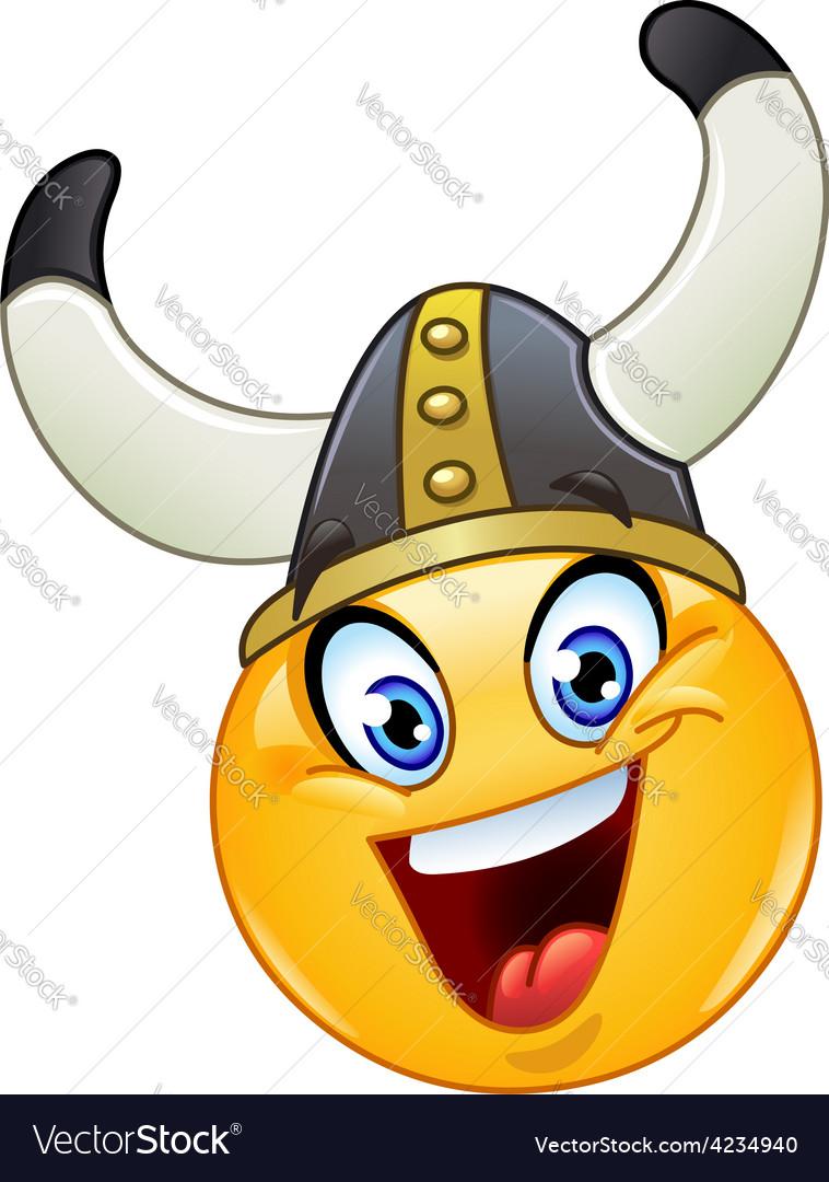 Viking emoticon vector | Price: 1 Credit (USD $1)