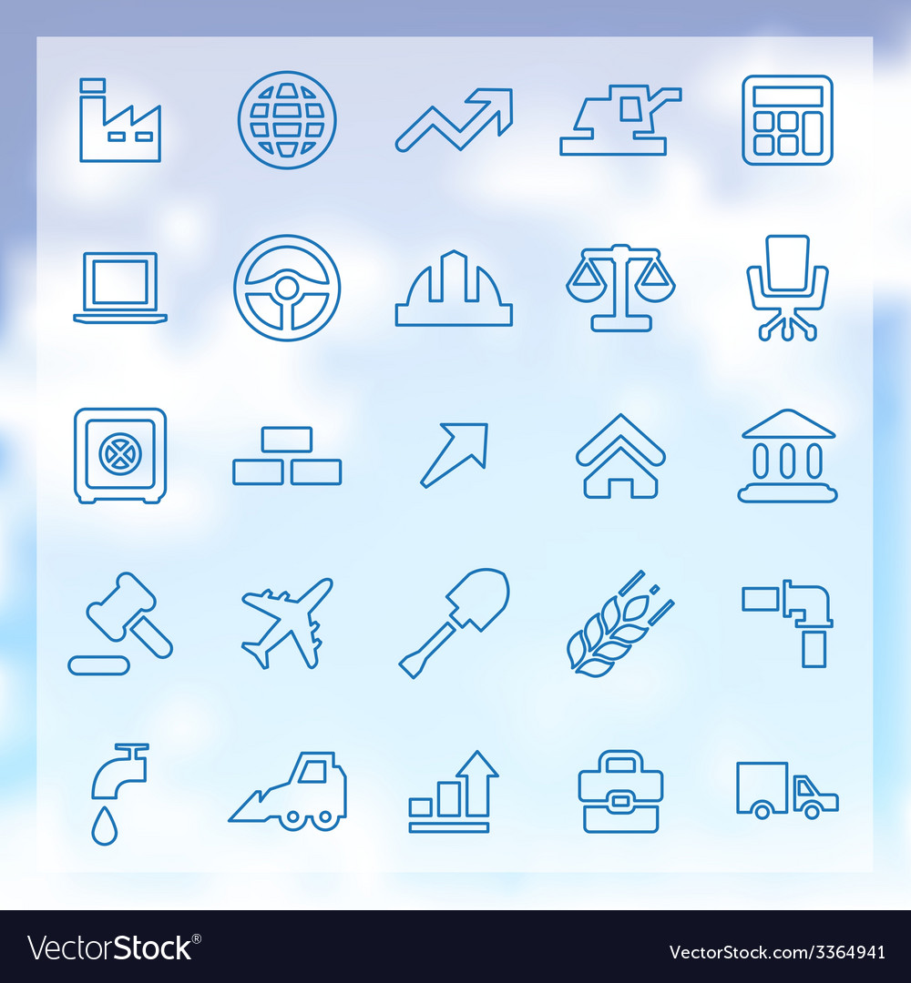 25 economy icons vector | Price: 1 Credit (USD $1)