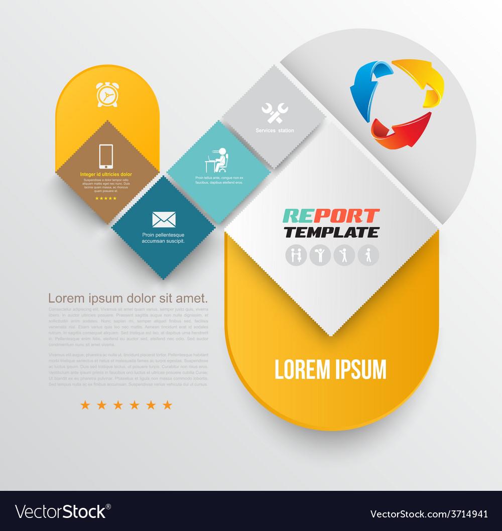 Brochure design template flyer layout magazine vector | Price: 1 Credit (USD $1)