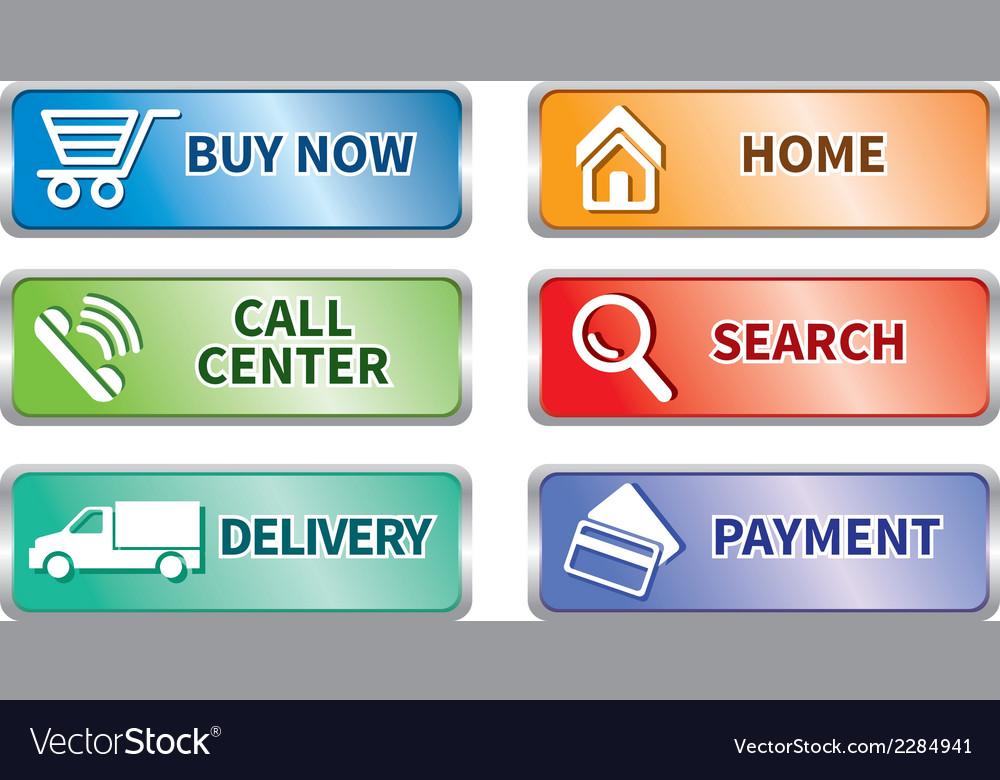 Button e commerce set vector | Price: 1 Credit (USD $1)