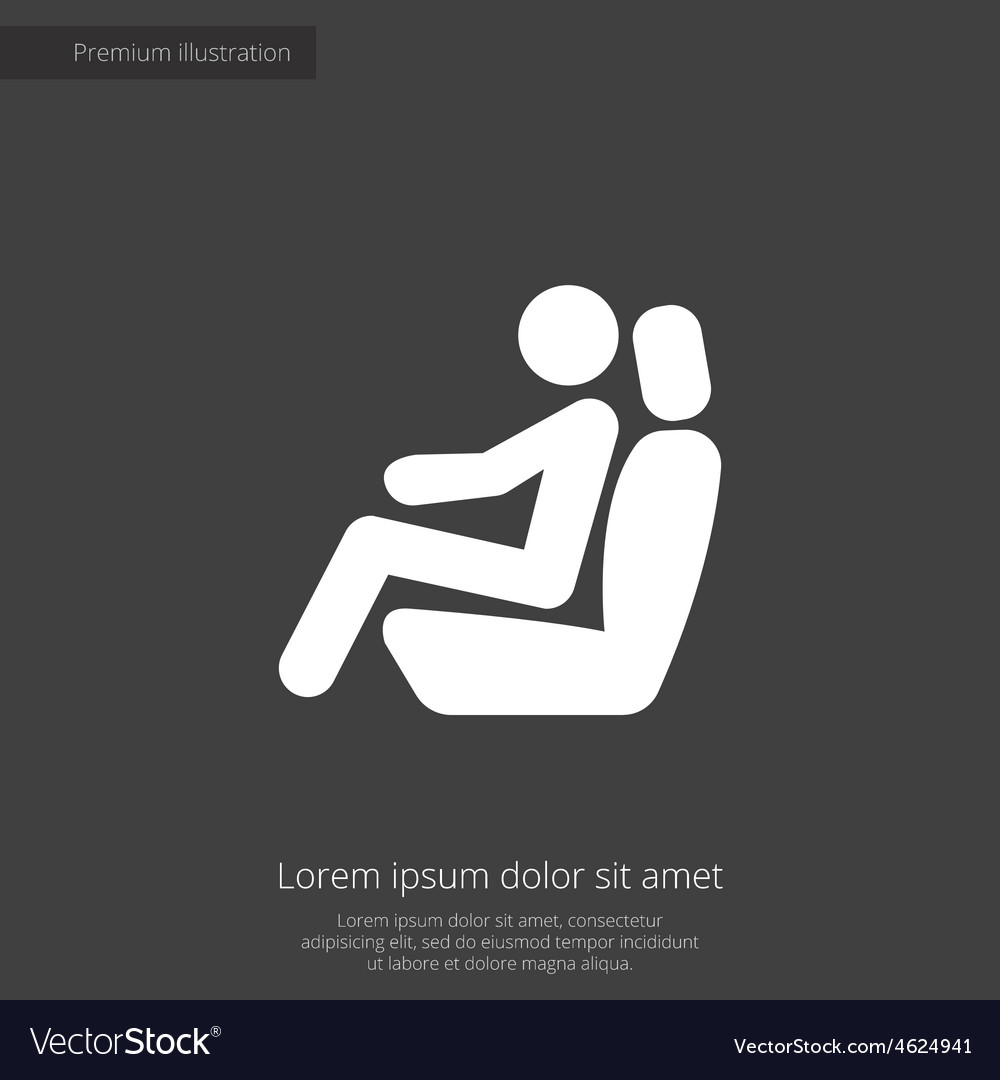 Car seat premium icon vector | Price: 1 Credit (USD $1)