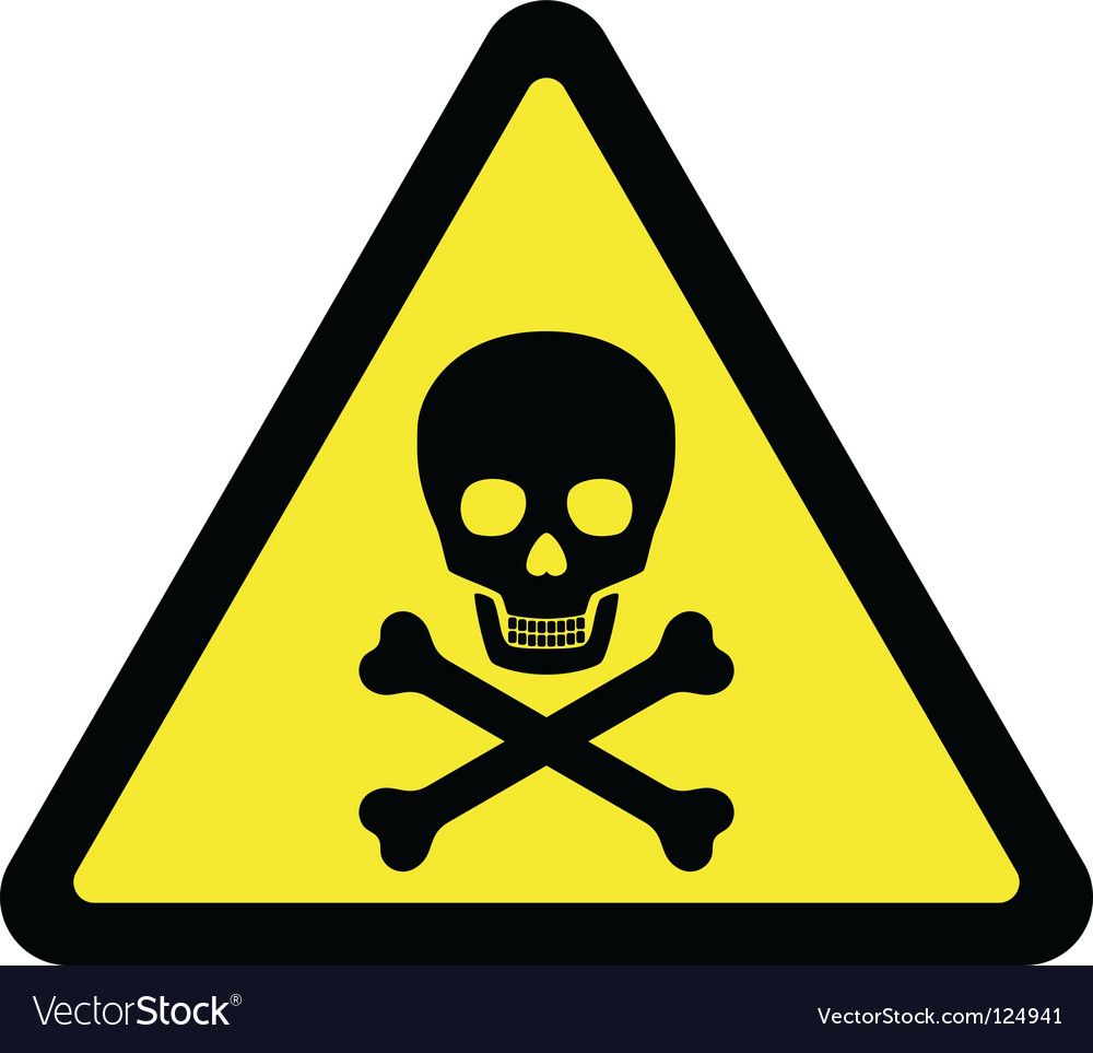 Deadly danger sign vector | Price: 1 Credit (USD $1)