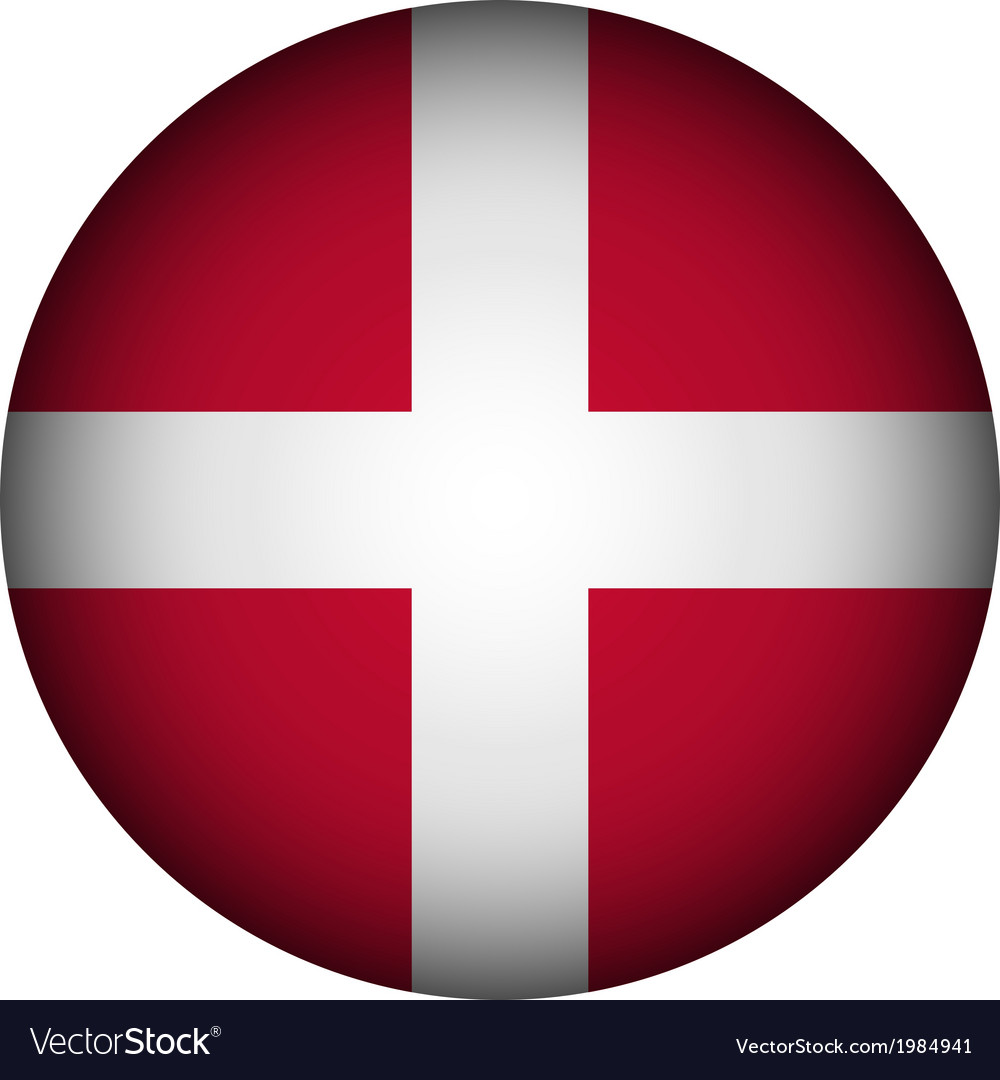 Denmark flag button vector | Price: 1 Credit (USD $1)