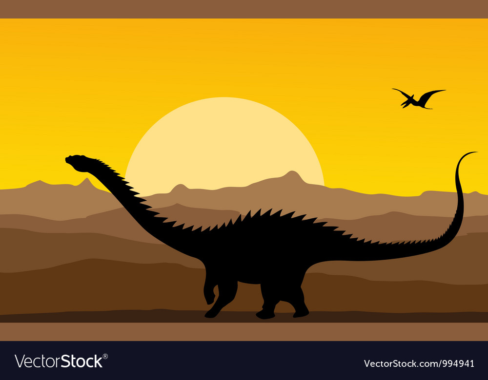 Dinosaurs background vector | Price: 1 Credit (USD $1)