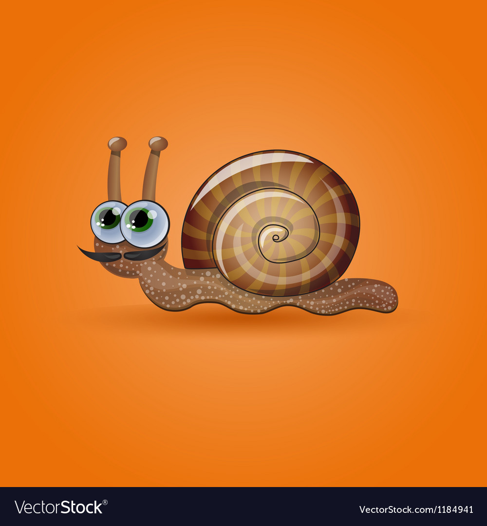 Isolated funny snail vector | Price: 1 Credit (USD $1)