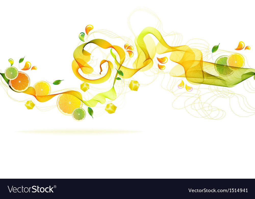 Orange and lime juice splash vector | Price: 1 Credit (USD $1)