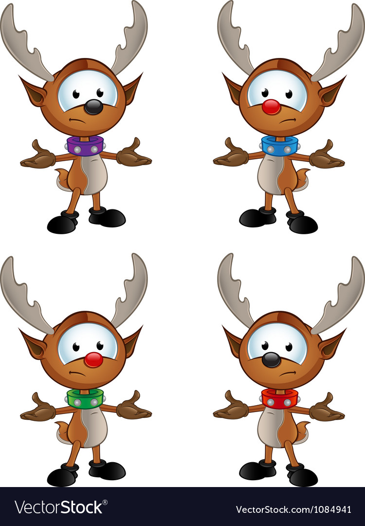 Reindeer character unhappy with arms out vector | Price: 3 Credit (USD $3)