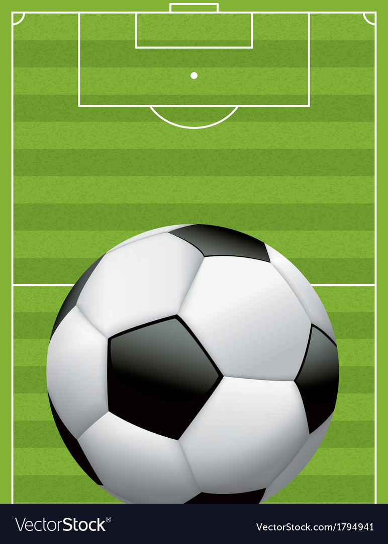 Soccer ball football and field vector | Price: 1 Credit (USD $1)