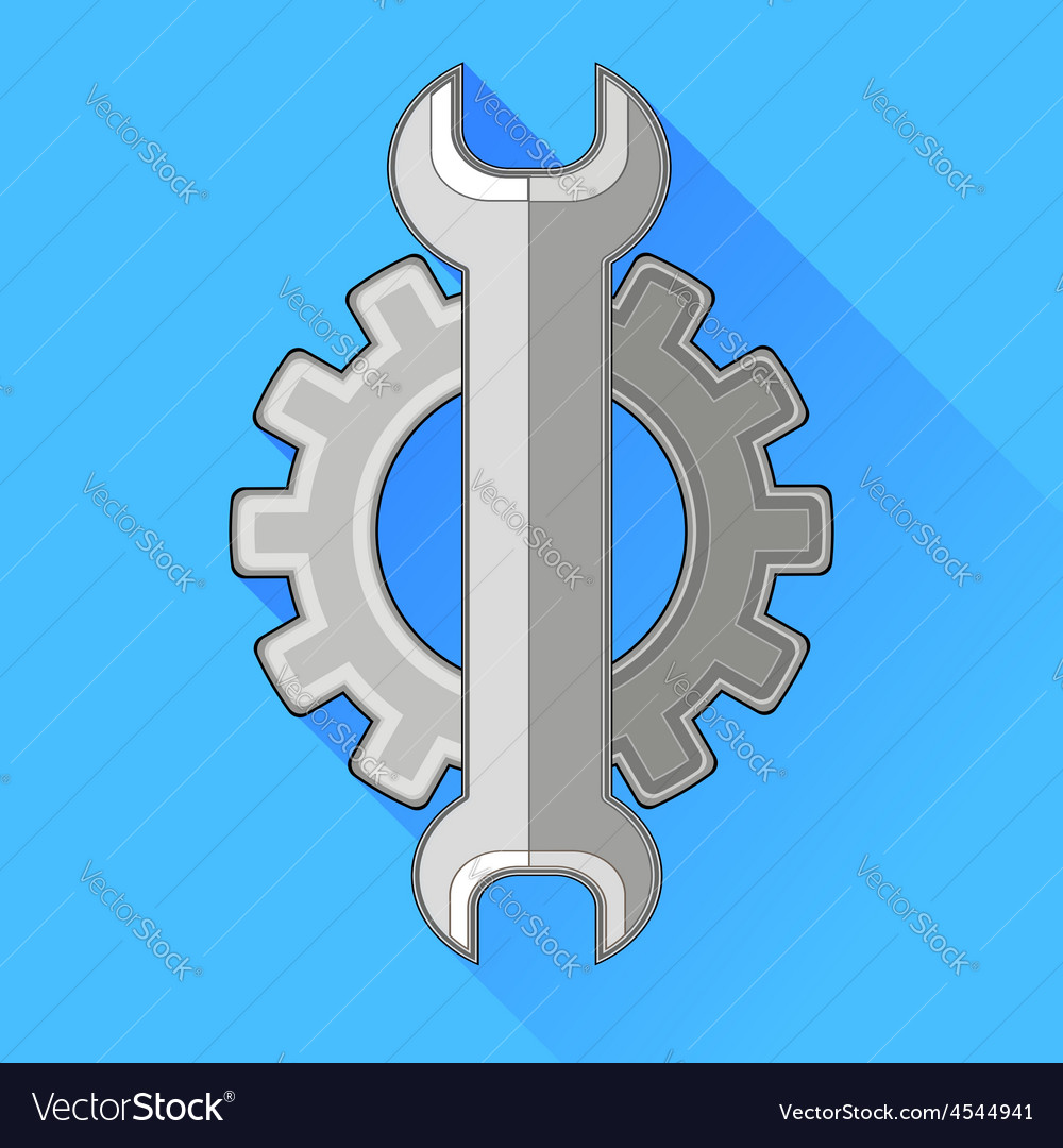 Wrench gear icon vector | Price: 1 Credit (USD $1)