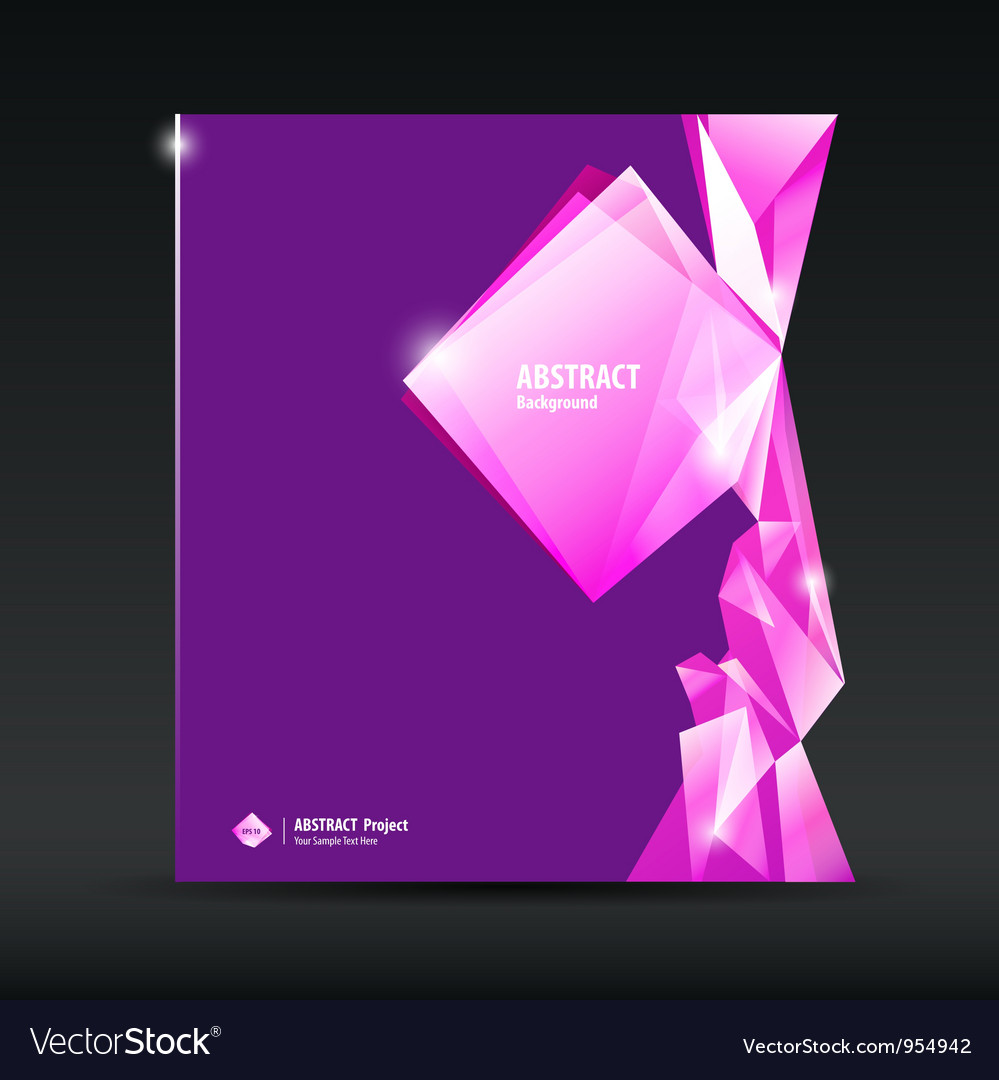 Abstract purple and pink diamond background vector | Price: 1 Credit (USD $1)