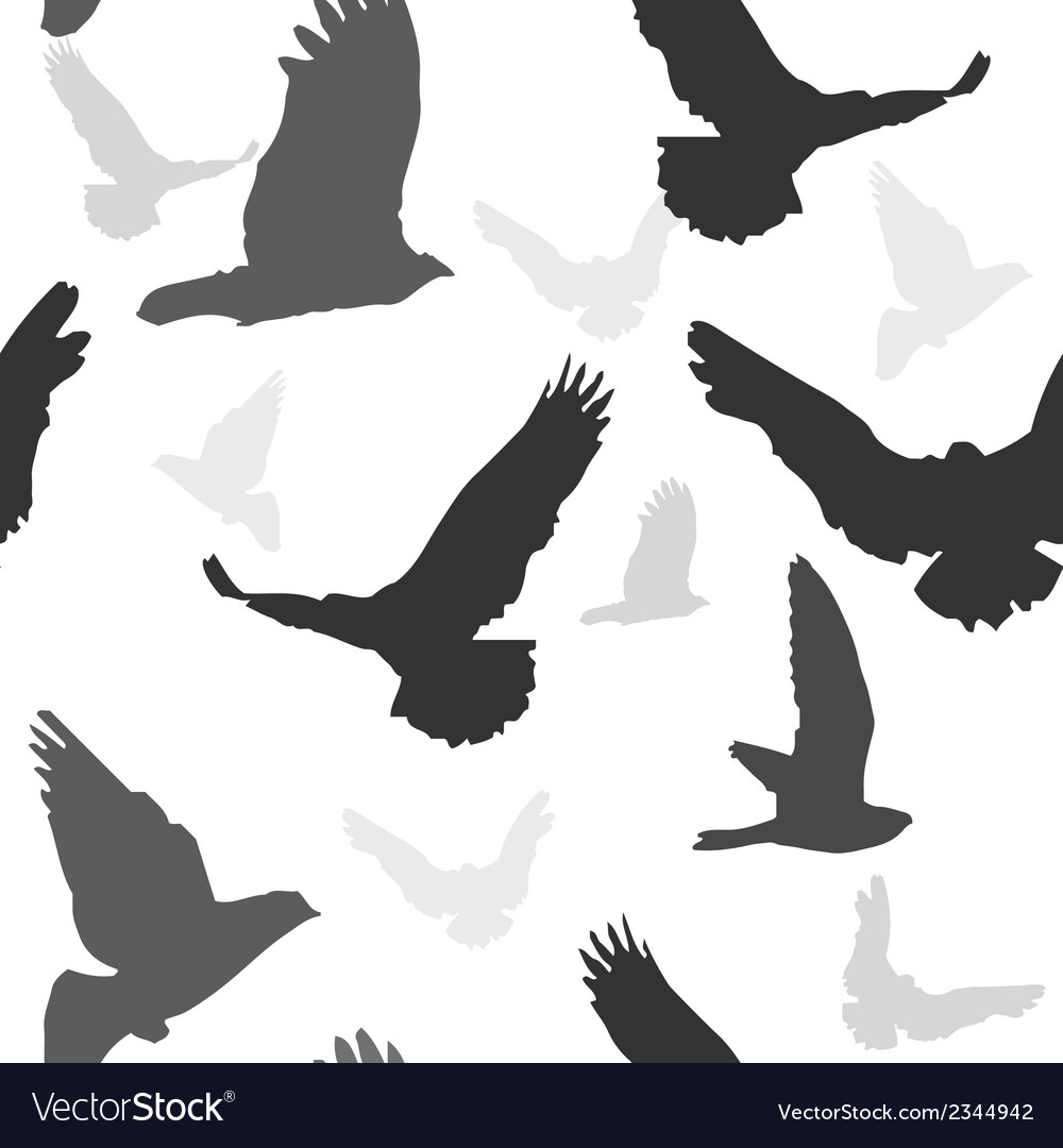 Birds background seamless pattern vector | Price: 1 Credit (USD $1)