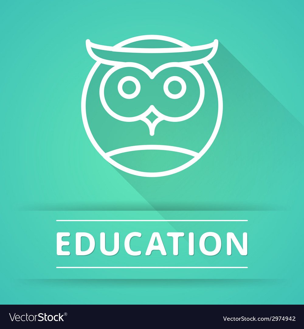 Flat design concept icons for education vector | Price: 1 Credit (USD $1)