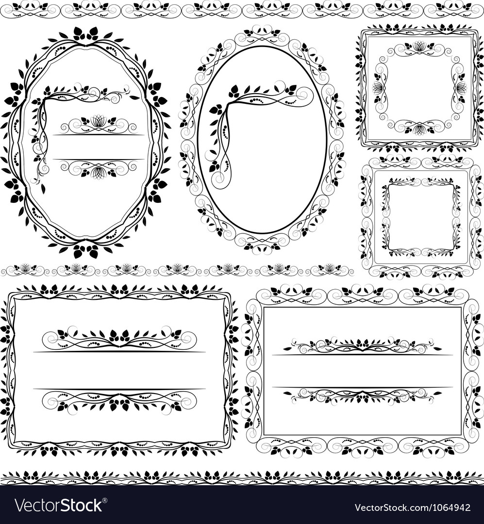 Frames borders and ornaments vector | Price: 1 Credit (USD $1)