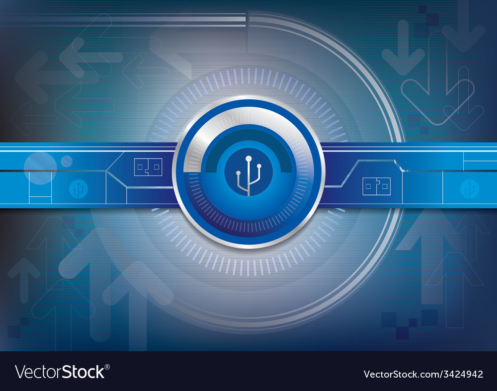 Graphic background of digital technology vector | Price: 1 Credit (USD $1)