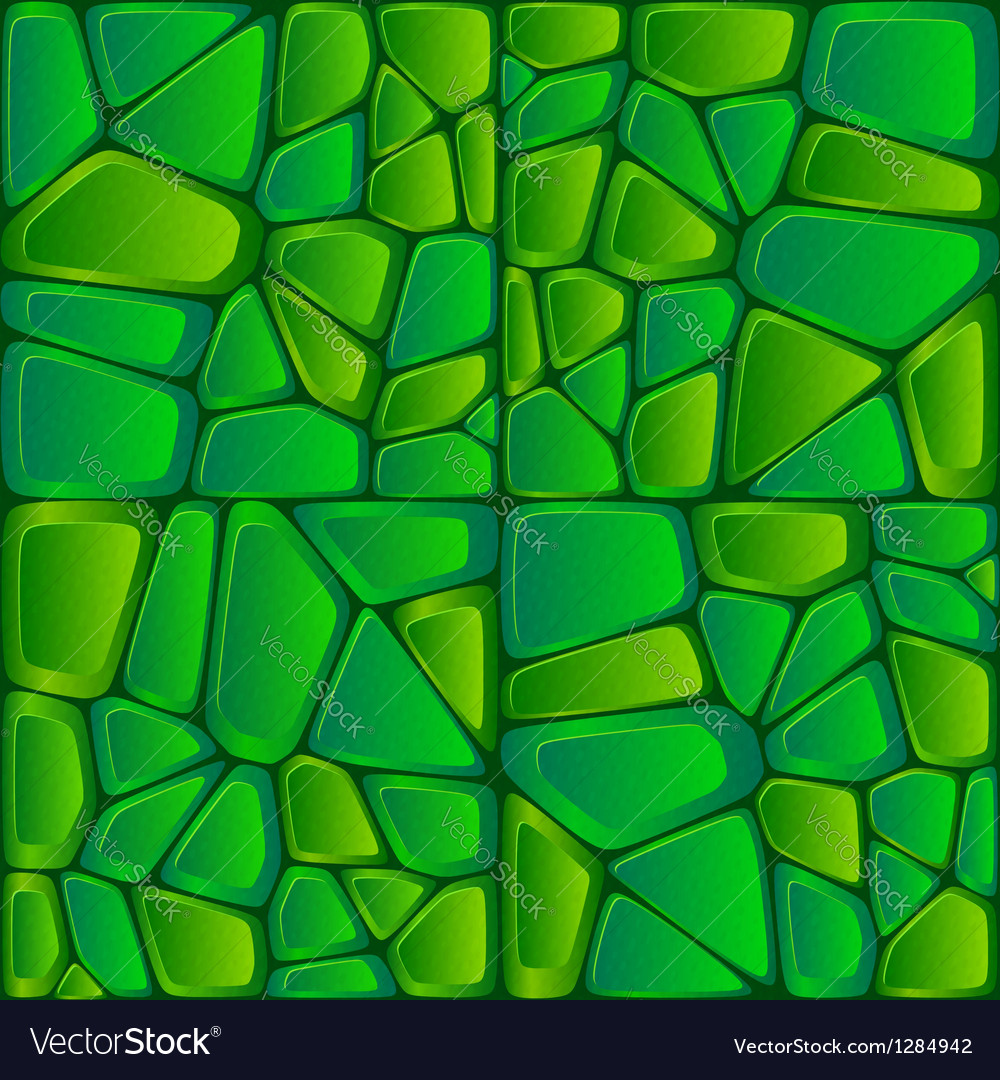 Green bricks abstract seamless pattern vector | Price: 1 Credit (USD $1)