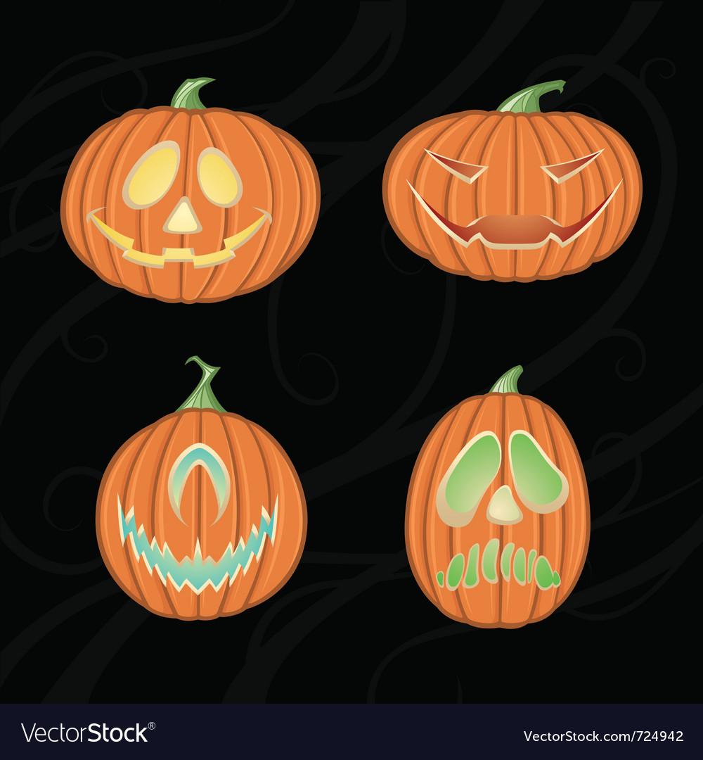 Halloween jack o lanterns vector | Price: 1 Credit (USD $1)