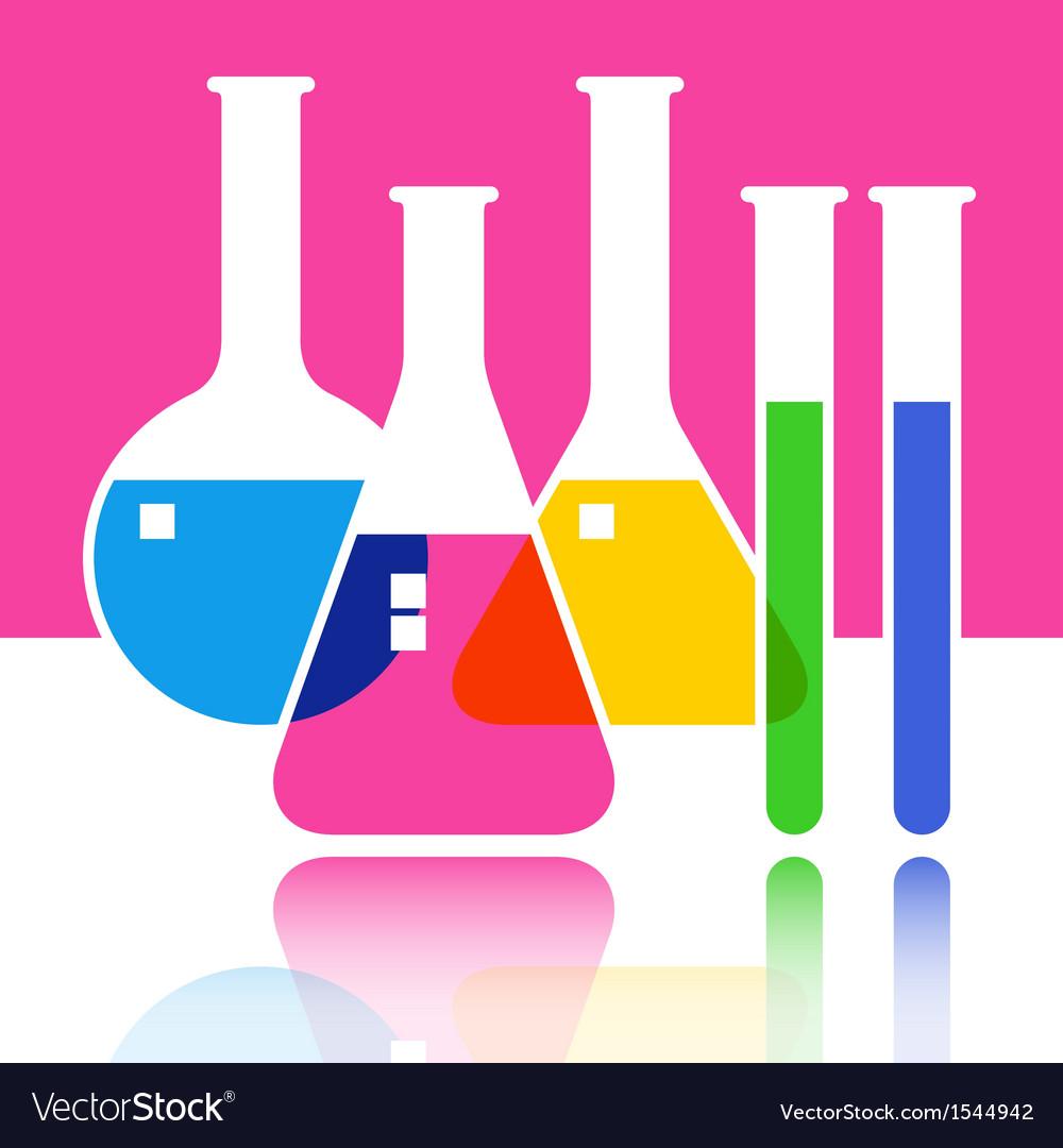 Laboratory glassware vector | Price: 1 Credit (USD $1)