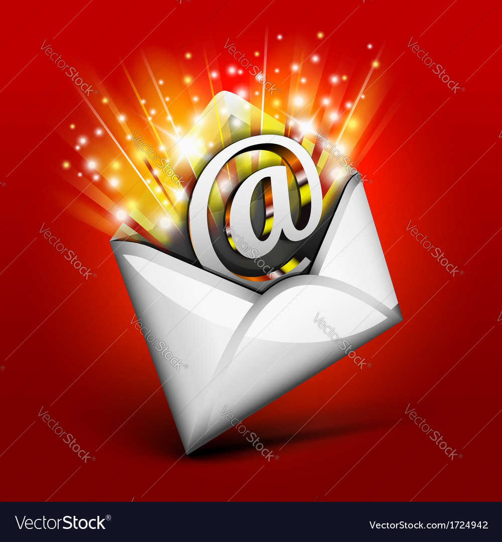 Magic email vector | Price: 1 Credit (USD $1)
