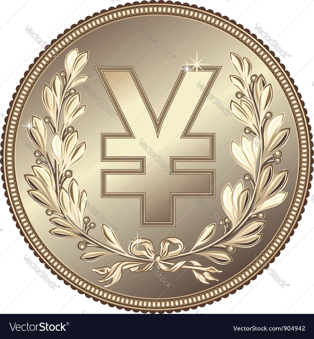 Silver money yuan or yen coin vector | Price: 1 Credit (USD $1)
