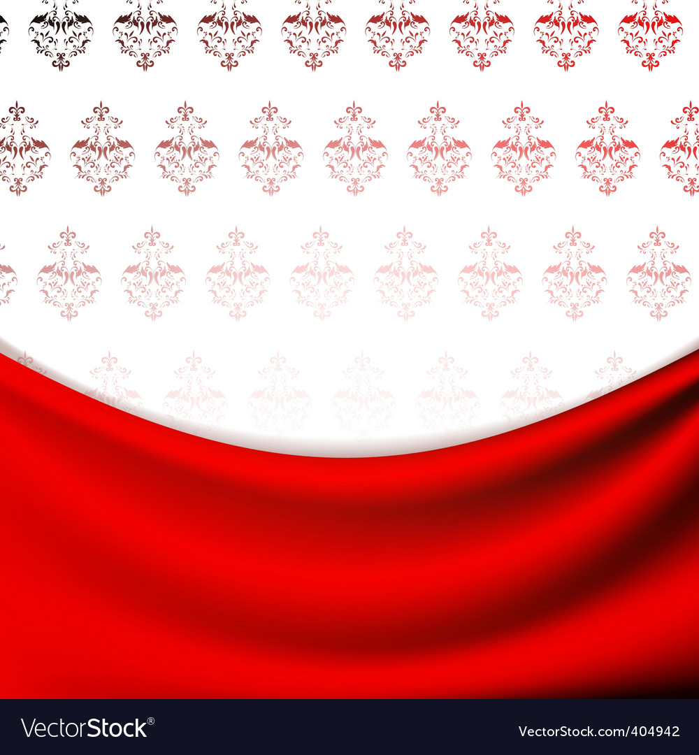 Wallpaper and drapery vector | Price: 1 Credit (USD $1)