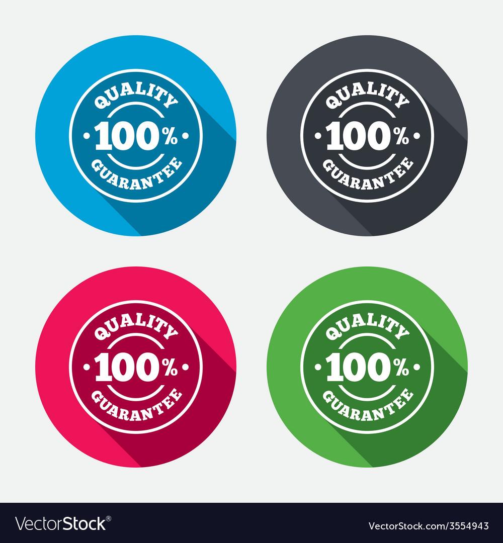 100 quality guarantee icon premium quality vector   Price: 1 Credit (USD $1)