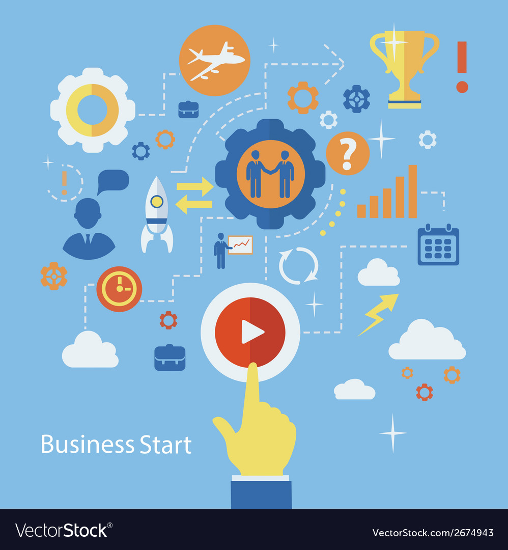 Business start infographics template scheme with vector | Price: 1 Credit (USD $1)