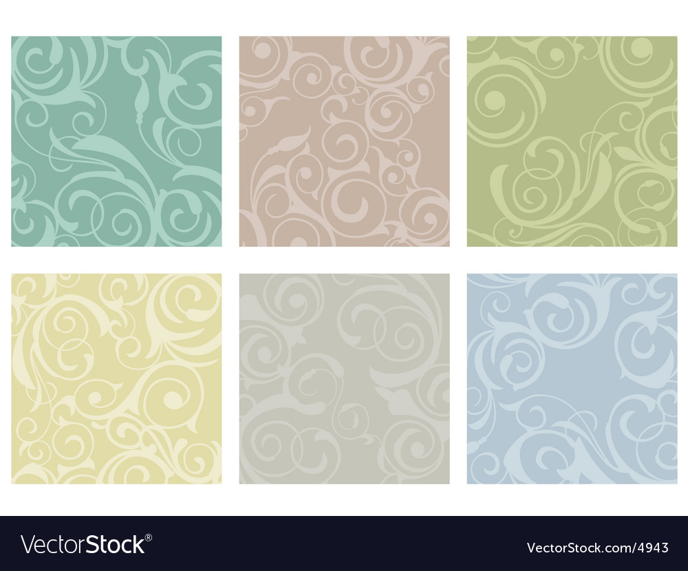 Floral tiles vector | Price: 1 Credit (USD $1)