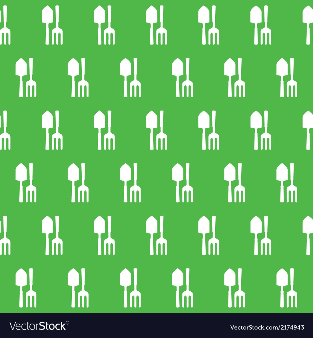 Gardening tools pattern vector | Price: 1 Credit (USD $1)