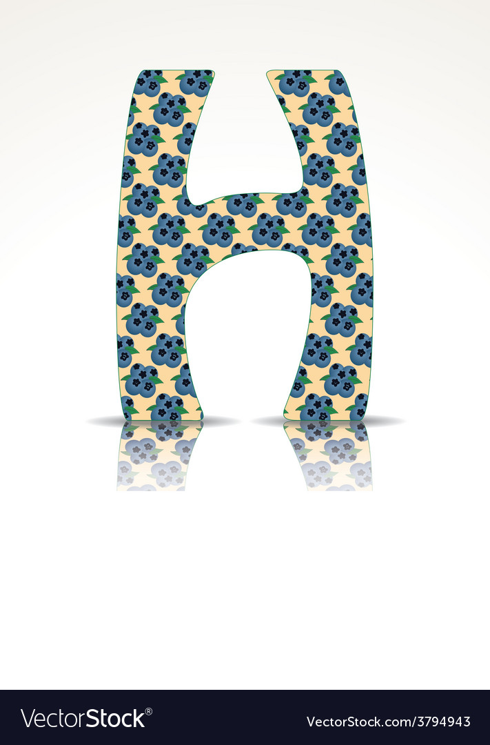 The letter h of the alphabet made of huckleberry vector | Price: 1 Credit (USD $1)