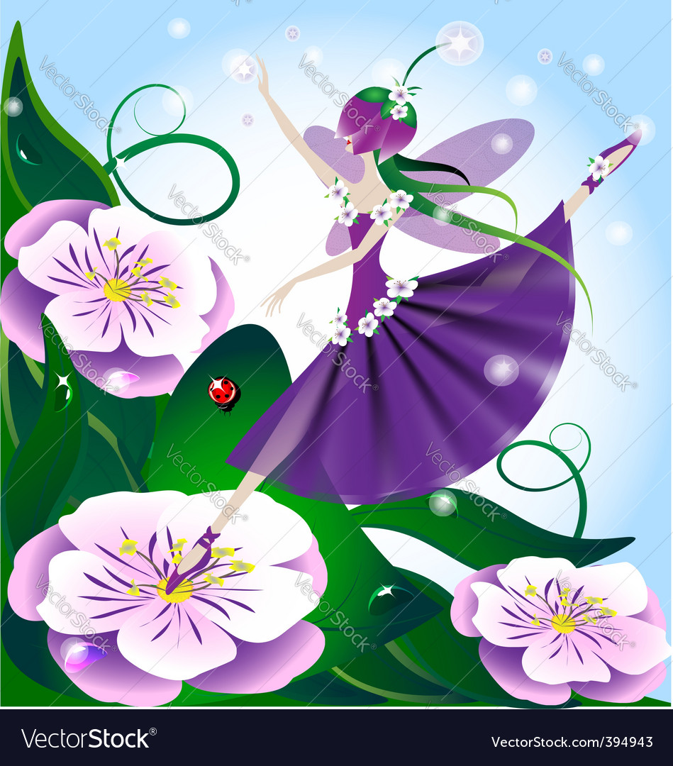 Lilac fairy vector | Price: 1 Credit (USD $1)
